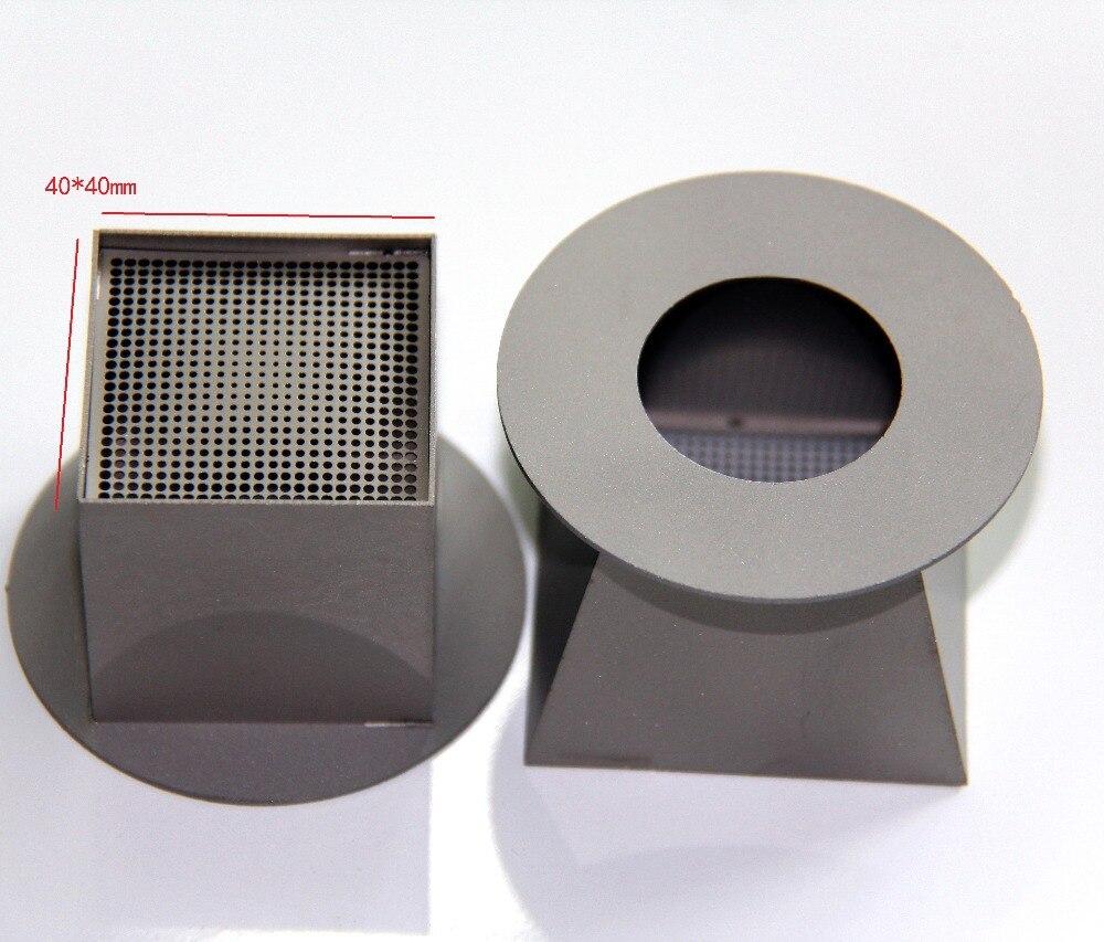 2PCS 40*40mm Authentic Titanium Alloy TOP BGA Hot Air Nozzles For zhuomao ZM-R590 ZM5830 ZM5860C ZM6200 ZM6800
