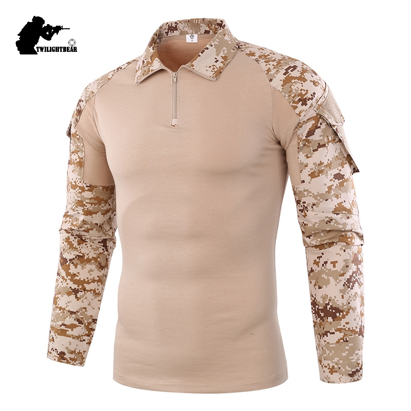 85195a74ba10 Military Mens Camouflage Tactical T Shirt Long Sleeve Brand Cotton  Breathable Combat Frog Tshirt Men Training Shirts AF655 ~ Super Sale July  2019