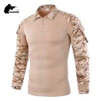 Военные Для мужчин s камуфляж тактический футболка с длинным рукавом бренд хлопок дышащая боевой Frog футболка Для мужчин Training рубашки AF655