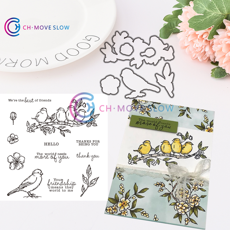 CH Free as a Bird Metal Cutting Dies and stamps DIY Scrapbooking Card Stencil Paper Card Album Decoration Paper Cards Decoration(China)