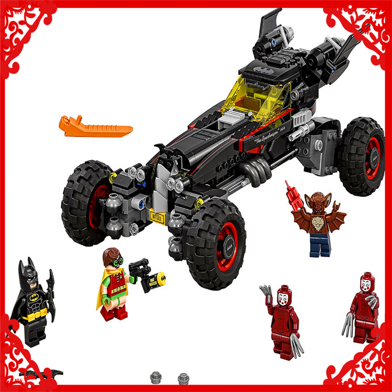 LEPIN 07045 Batman Series Racing Car Building Block Compatible Legoe 559Pcs    Toys For Children Compatible Legoe 2017 lepin 07045 batman movie batmobile features robin man bat kabuki building block toys compatible with legoe batman 70905