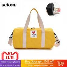0f105c26ea5a Canvas Women s Travel Bags Yoga Gym Bag for Fitness Shoes Handbags Shoulder  Crossbody Cute Women Men