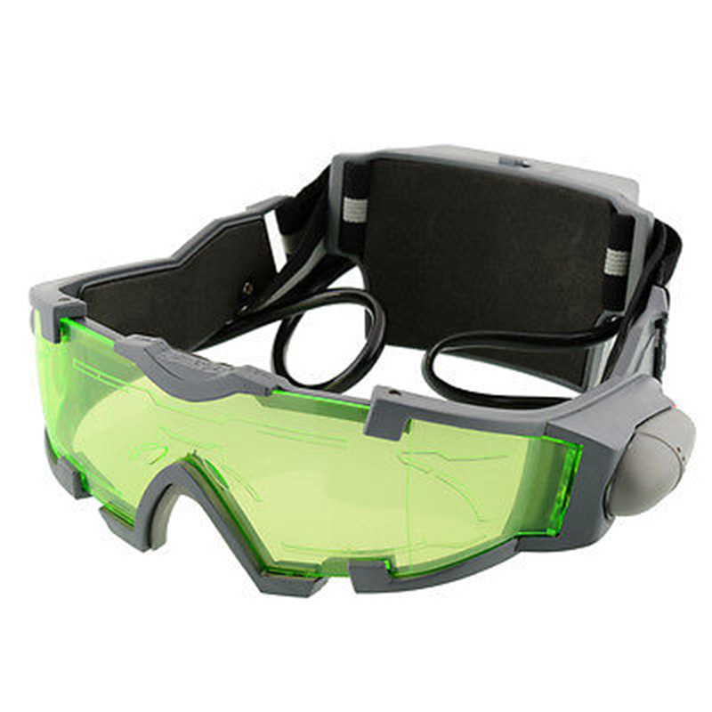 2135ae7831c 1 pcs Green Lens Adjustable Windproof Night Vision Goggles Glasses Child Eye  Protect With LED Lights