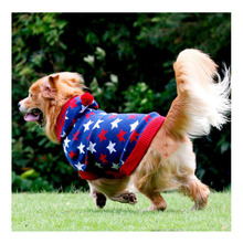 Pet Dog Sweaters Winter Star Pattern Dog Clothes Big Dog Sweater For Large Dog Samoyed Golden Retriever Hooded Costumes Clothing