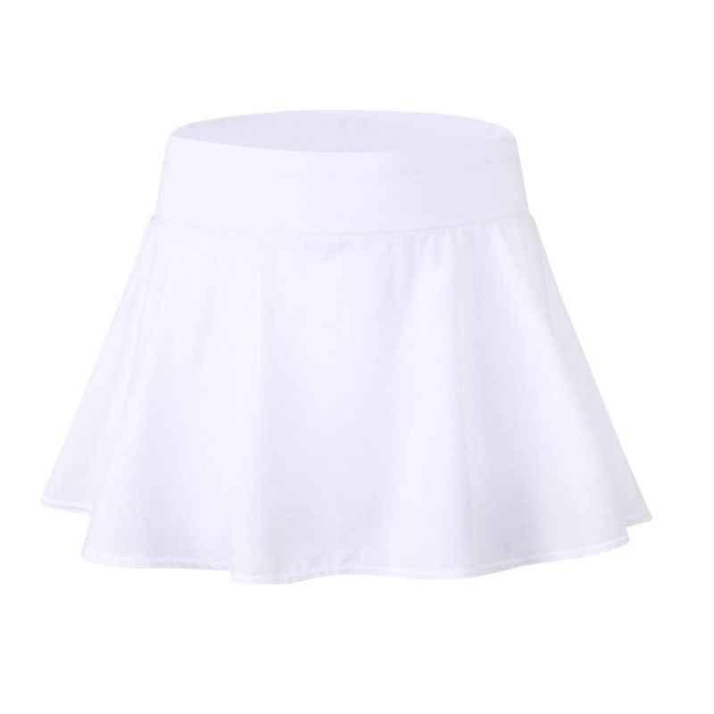 2018 Sport tenis joga Skorts fitness krótki spódnica Badminton oddychająca szybkoschnący kobiety Sport nieprześwitująca spódnica do tenisa