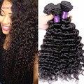 Tissage Перуанский Девы Волос Глубокая Волна 4 Связки MYMYMY Магазин Волос Необработанные Перуанский Deep Вьющиеся Девы Волос Человеческих Волос Weave