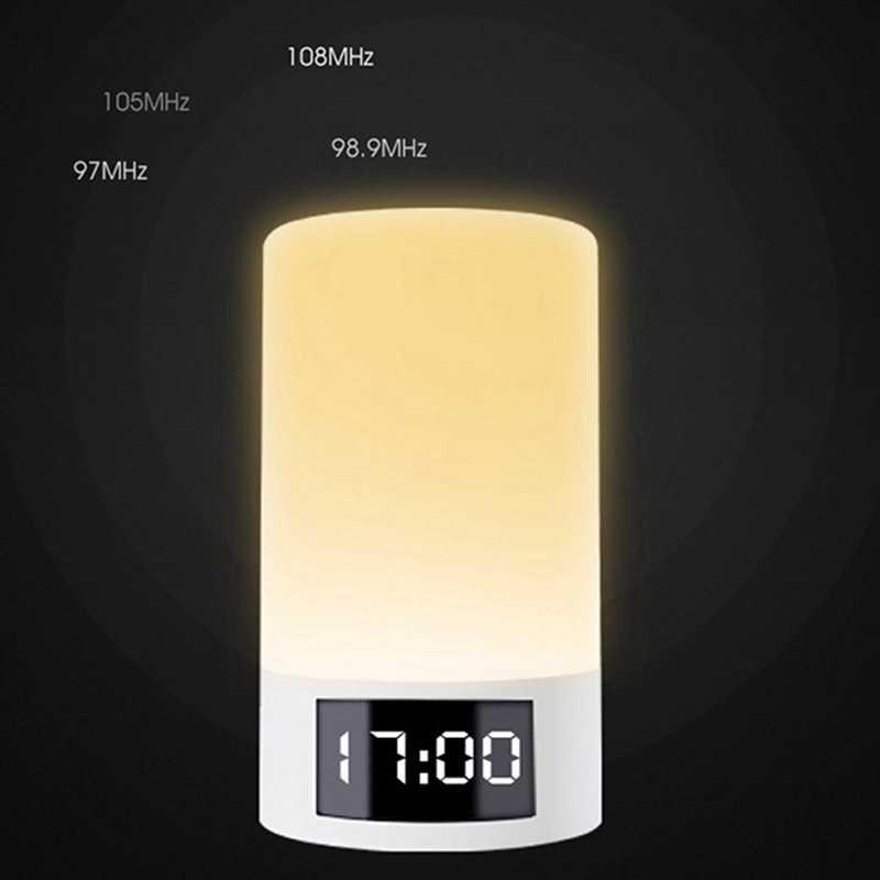 Çok fonksiyonlu Led ışık çalar saat kablosuz bluetooth hoparlör kontak sensörü Led başucu lambası renkli renk akıllı atmosfer