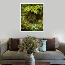 цена на Landscape Hand Painted Home Decorative for Living Room Wall Art Forest Oil Painting Print on Canvas Abstract Artwork Drop Ship