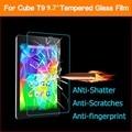 Melhor qualidade 0.26mm 2.5D Vidro Temperado film para CUBE T9 9.7 polegada Tablet PC Anti-shatter Tela frontal protector películas Protetoras