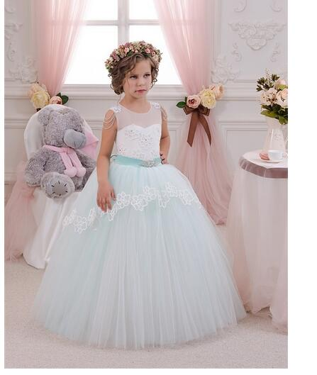 Girls Formal Dress 2017 Sleeveless Flower Girls Dresses Kids Lace Beads Party Gauze Ball Gown Children's Prom Wedding Dress girls formal dress 2017 sleeveless flower girls dresses kids party chiffon lace bow ball gown children s prom wedding dress
