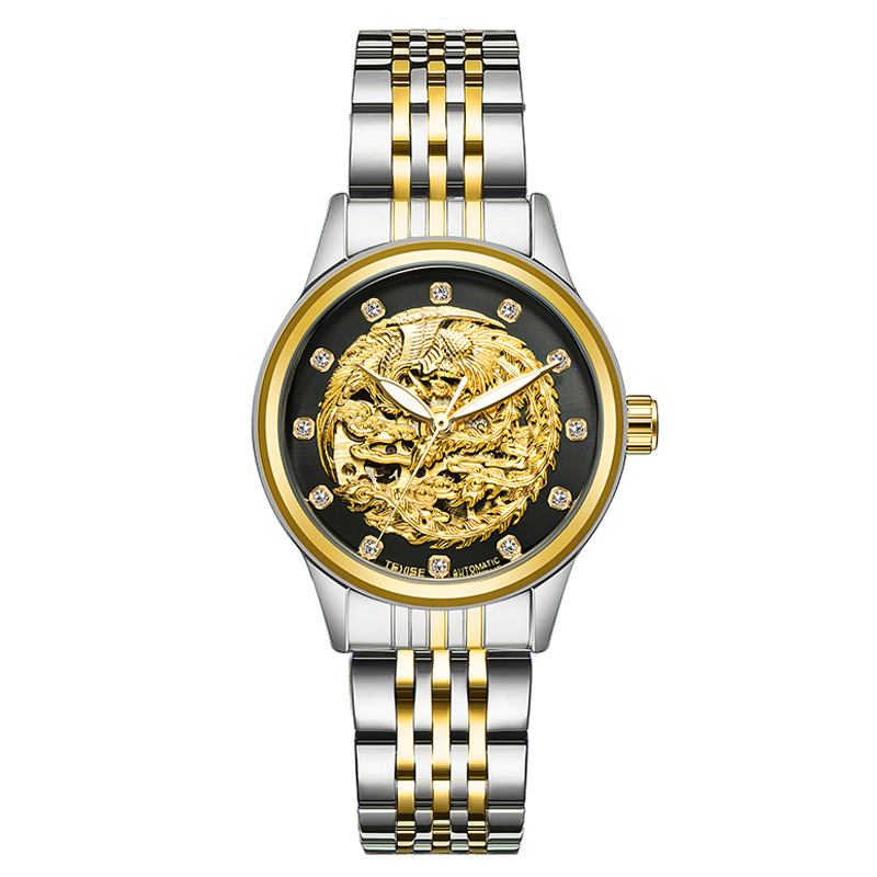 TEVISE Women's Watch Automatic Table Hollow Hollow Mechanical Watch Automatic Winding Relogio Automatico Masculino hollow out dial design automatic mechanical watch with metal band for men tevise 8377003