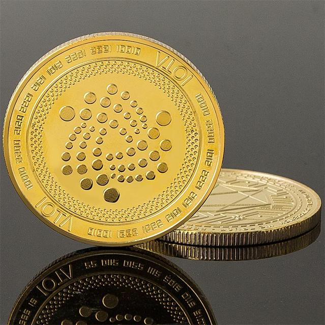 2018 New Arrival IOTA virtual digital currency Bitcoin embossed three-dimensional commemorative coin Dropshipping 3