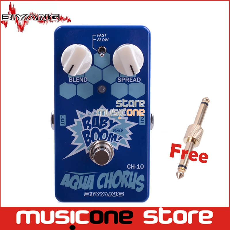 biyang baby boom ch 10 electric guitar bass two speed analog aqua chorus effect guitar pedal. Black Bedroom Furniture Sets. Home Design Ideas