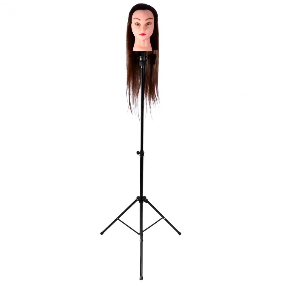 Oversea Mannequin Head Tripod Adjustable Tripod Stand Salon Hairdressing Training Practicing Head Holder Hair Wig Stand Tool steel mannequin tripod stand hair salon adjustable tripod wig stand hairdressing training head clamp holder