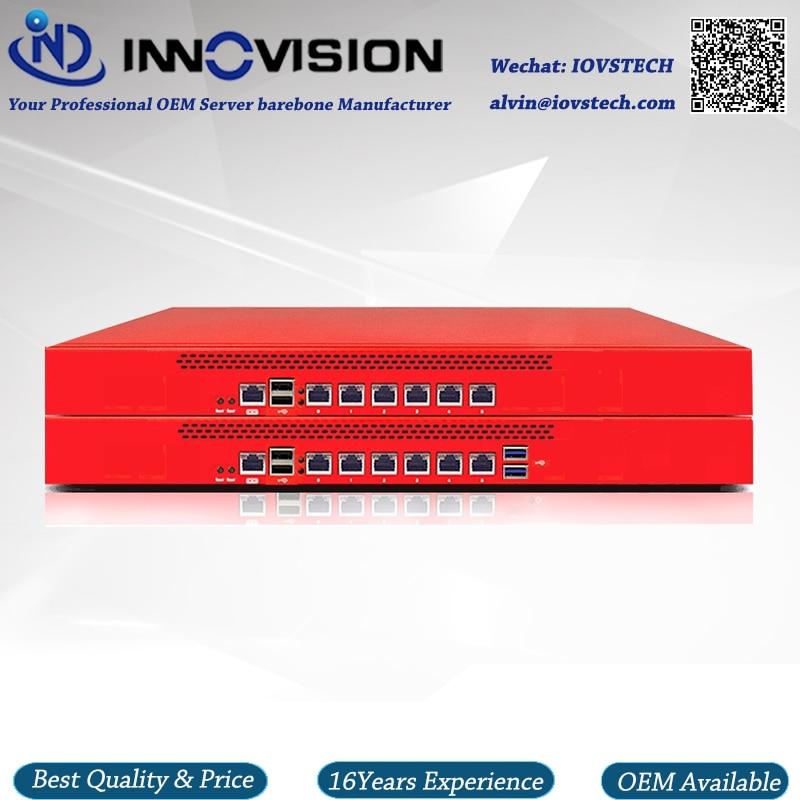 Economical 6GBe Lans Rack 1U Celeron Processor 3855U Firewall Server Barebone