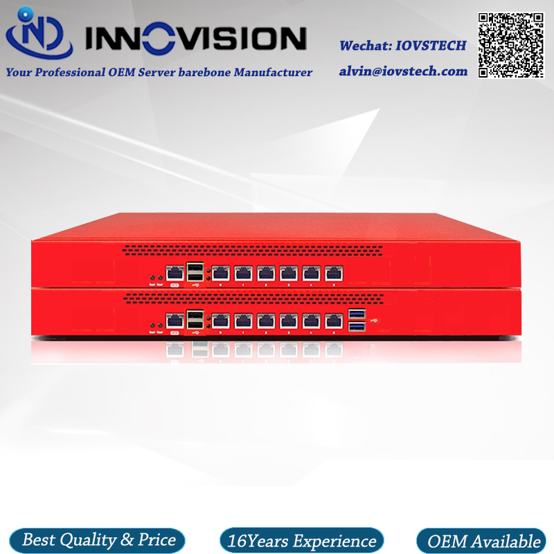 Upscale 1u Rack Firewall Server 6GBe Lans J1900 4cores 2.0GHz Processor Network Security Router Server