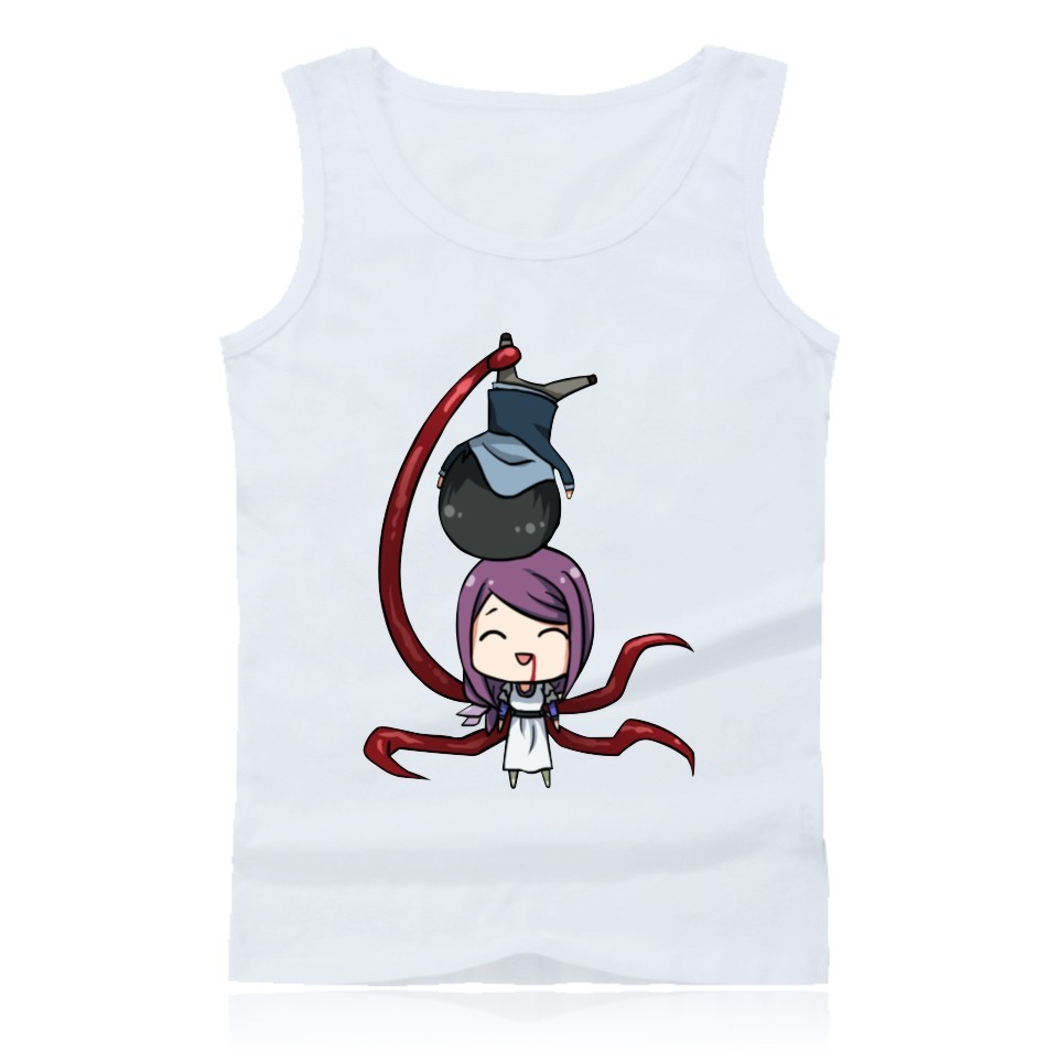 New Harajuku   Tank     Tops   Man Tokyo Ghoul Vest Men Women Popular Casual Sleeveless   Tank     Tops   Summer Men's Fashion Vest   Tops   XXS-4XL