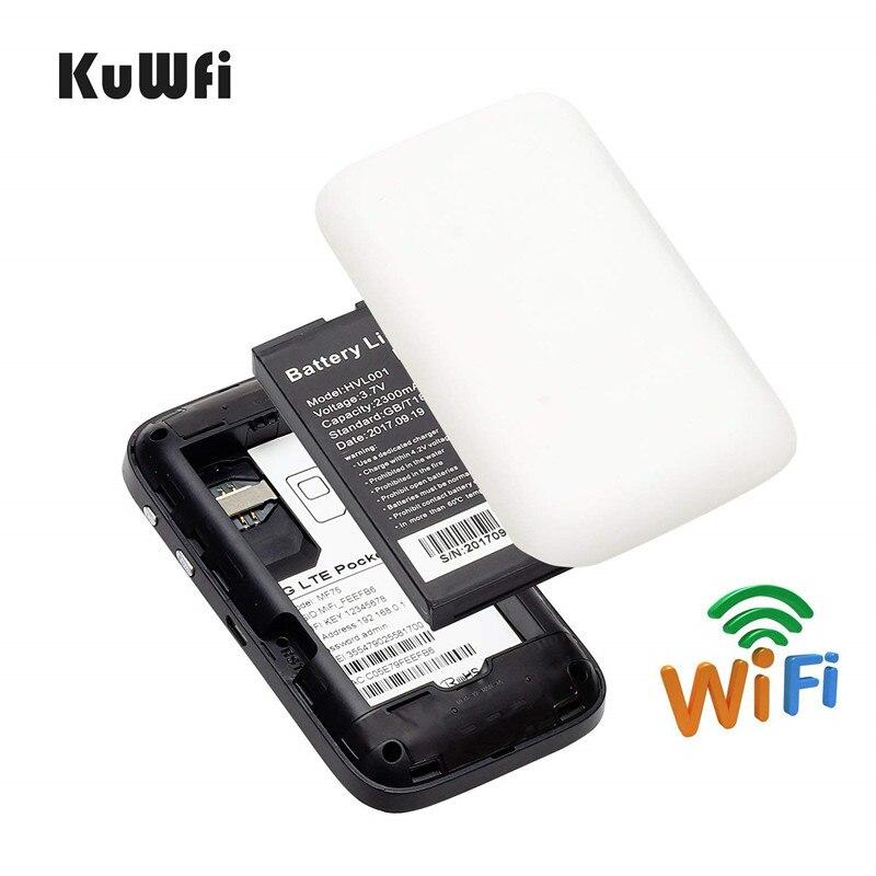 Image 4 - KuWFi 4 г LTE разблокированный wi fi роутер карман 3g/4 Мобильный Wi Fi точка доступа маршрутизатор с Sim карты слот для путешествий-in 3G/4G маршрутизаторы from Компьютер и офис