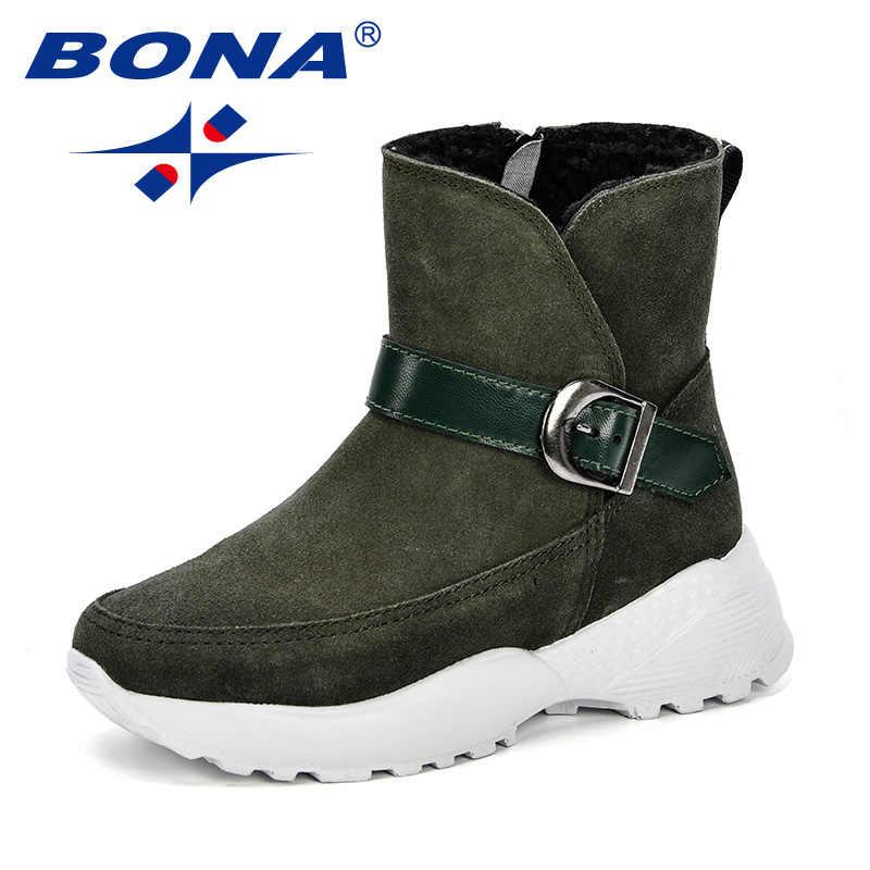 Buena cálido niños botas para la nieve de los niños de Otoño de 2018 los niños nuevo invierno cómodo zapatos de niño antideslizante plana redonda botas encantadoras para chicas