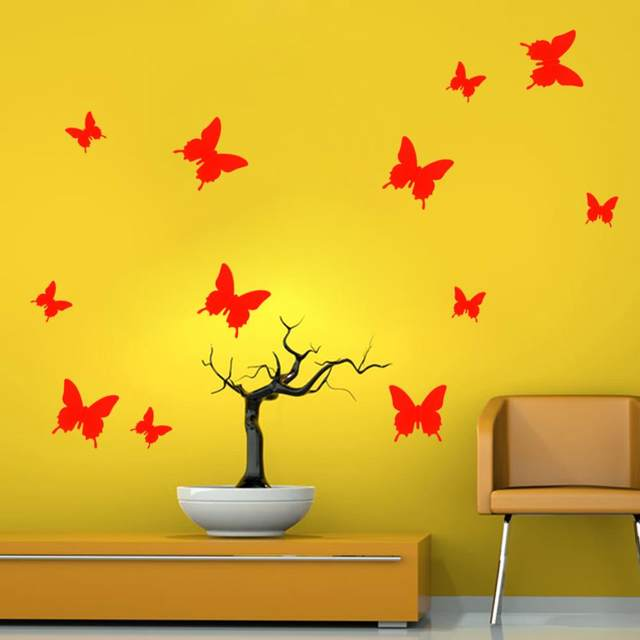 Awesome White Butterfly Wall Decor Pattern - Wall Art Design ...