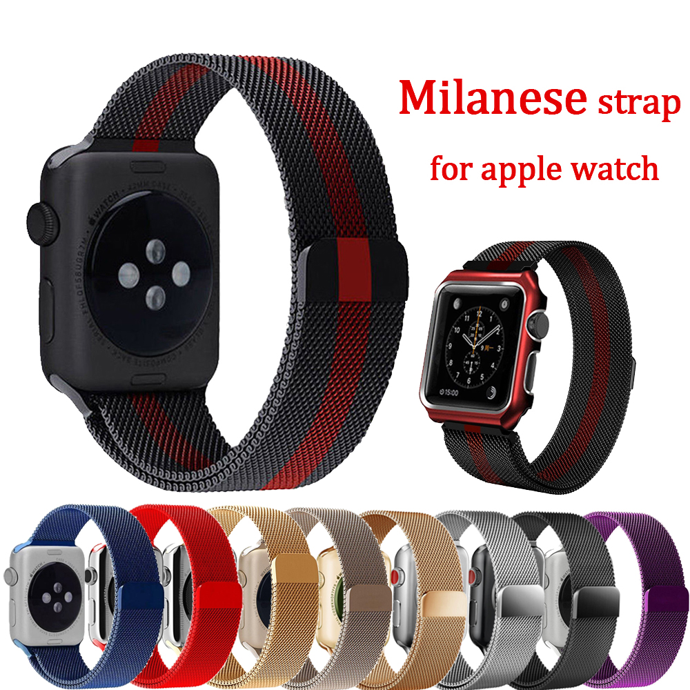 Milanese Loop Strap For Apple Watch Band 42mm 38mm Stainless Steel Bracelet Wrist Watchband for Iwatch 3/2/1 Accessories Belt milanese loop watch band strap for apple watch 38mm 42mm bracelet belt stainless steel mesh watchband for iwatch series 1 2