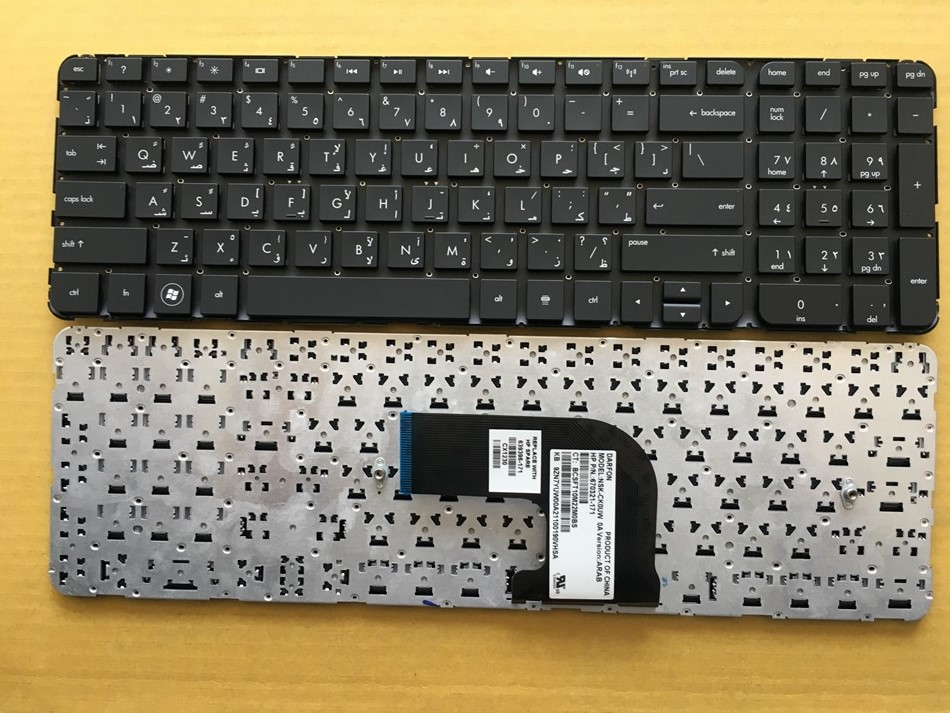 New AR Arabic Keyboard For HP Pavilion DV6-7000 Series DV6-7100 7200 7001TX 7002TX 7002 7029 7031 7035 7100 DV6-7200 No frame AR ...