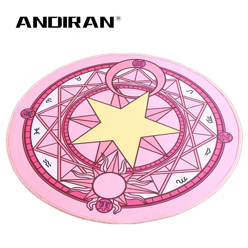 Kids Bedroom Carpet Cartoon Sakura Magic Children Round Play Carpet Computer Chair Hanging Basket Puzzle Mats