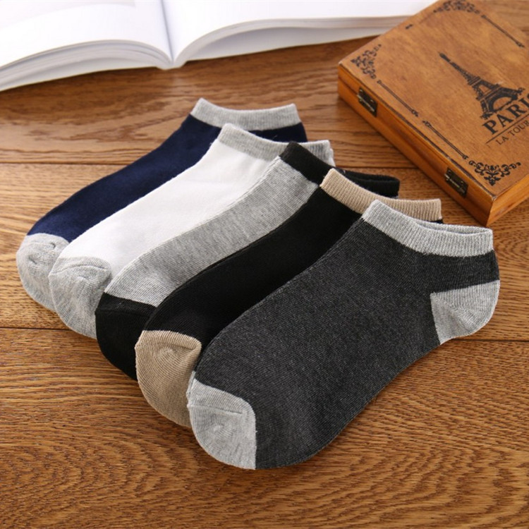 Men's Cotton Boat Socks Pure Color Men's Socks Low-end Shallow-mouth Sports Socks in Spring and Summer