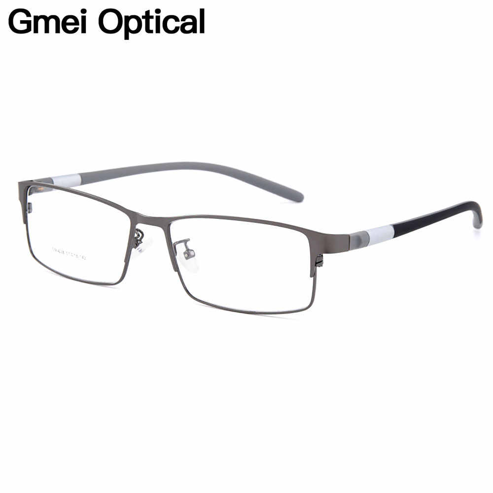 Gmei Optical Men Titanium Alloy Eyeglasses Frame for Men Eyewear Flexible Temples Legs IP Electroplating Alloy Spectacles Y028