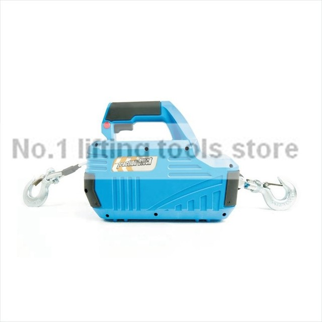 500 lb small electric wire rope winch for pulling lifting 8 M-in ...