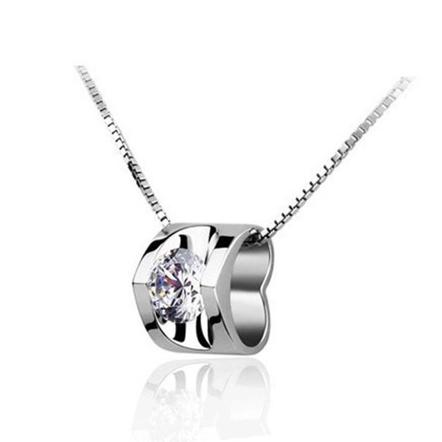 Crystal clavicle angel heart pendant necklace for women necklaces crystal clavicle angel heart pendant necklace for women necklaces pendants 925 sterling silver jewelry charms aloadofball Choice Image