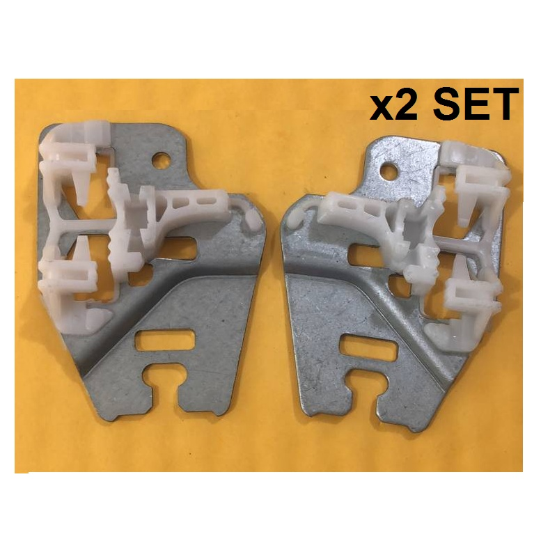X2 SET FOR BMW E46 3 SERIES WINDOW REGULATOR REPAIR CLIPS With METAL SLIDER FRONT LEFT And RIGHT 1998-2013
