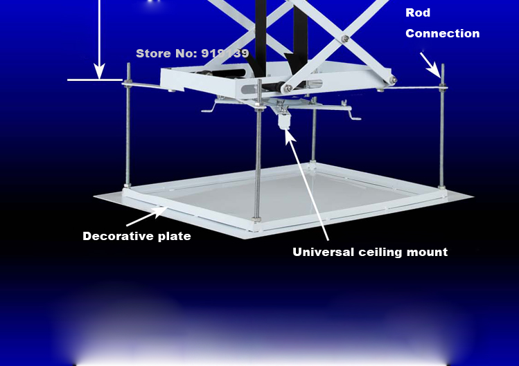 Motorized Electric Ceiling Mount Projector LIft with