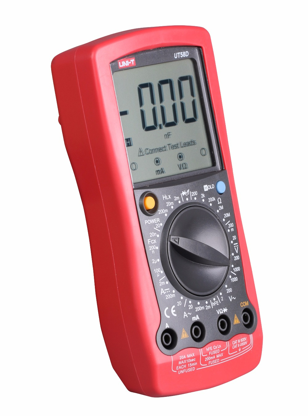 UNI-T UT58D 1999 Counts LCD Large Screen Digital Multimeter ACDC Voltage CurrentResistanceCapacitanceInductance Tester
