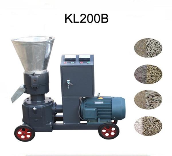 KL200B 7.5KW Pellet Mill Feed / Wood Pellet Mill Machine Pelletpress With Star-delta Starting