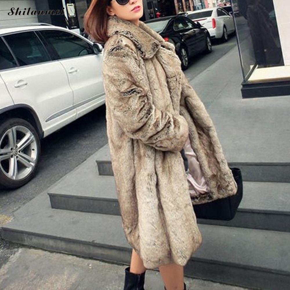 Hiver Haute Longue Nouveau Fourrure Veste De Survêtement Artificielle Faux Épais Xs Taille Manteau 2017 Mode Qualité Chaud Femmes La 3xl Plus dvxTdnq