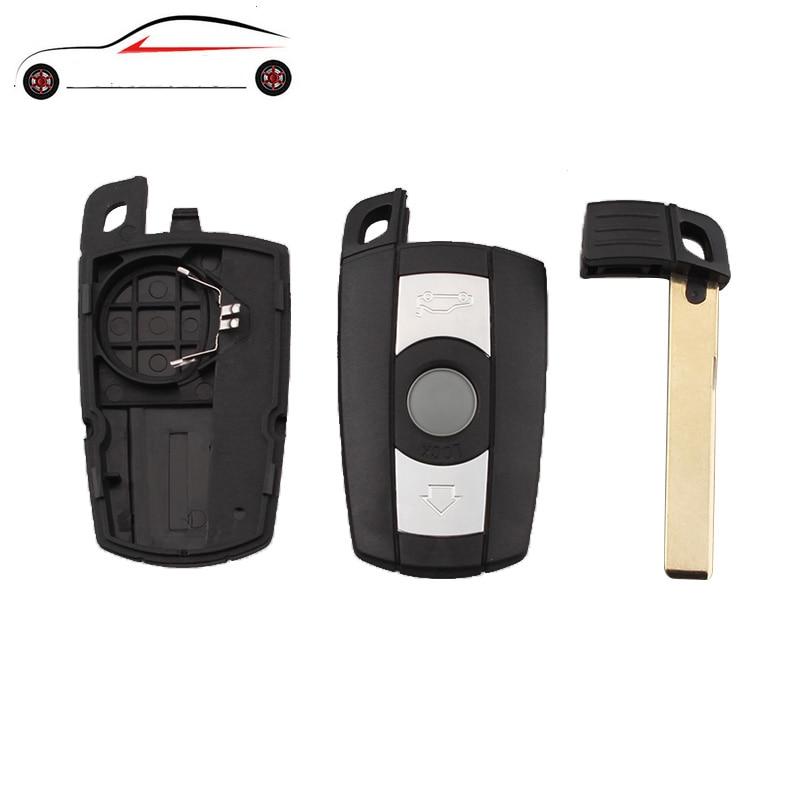 GORBIN 3 Buttons Remote Car Key Case Cover For BMW 1 3 5 6 Series E90 E91 E92 E60 Remote Key Shell Case Smart Key Blade Fob 4 buttons silicone case for bmw x1 x5 x6 bmw 3 5 7 series smart remote car key cover with emblems