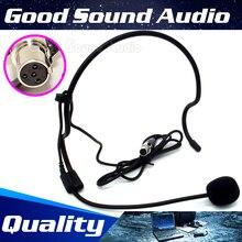Мини XLR 4-контактный TA4F 4PIN разъем повязка на голову головной микрофон с наушным креплением конденсаторный микрофон гарнитуры для SHURE Беспроводной Системы bodybelt
