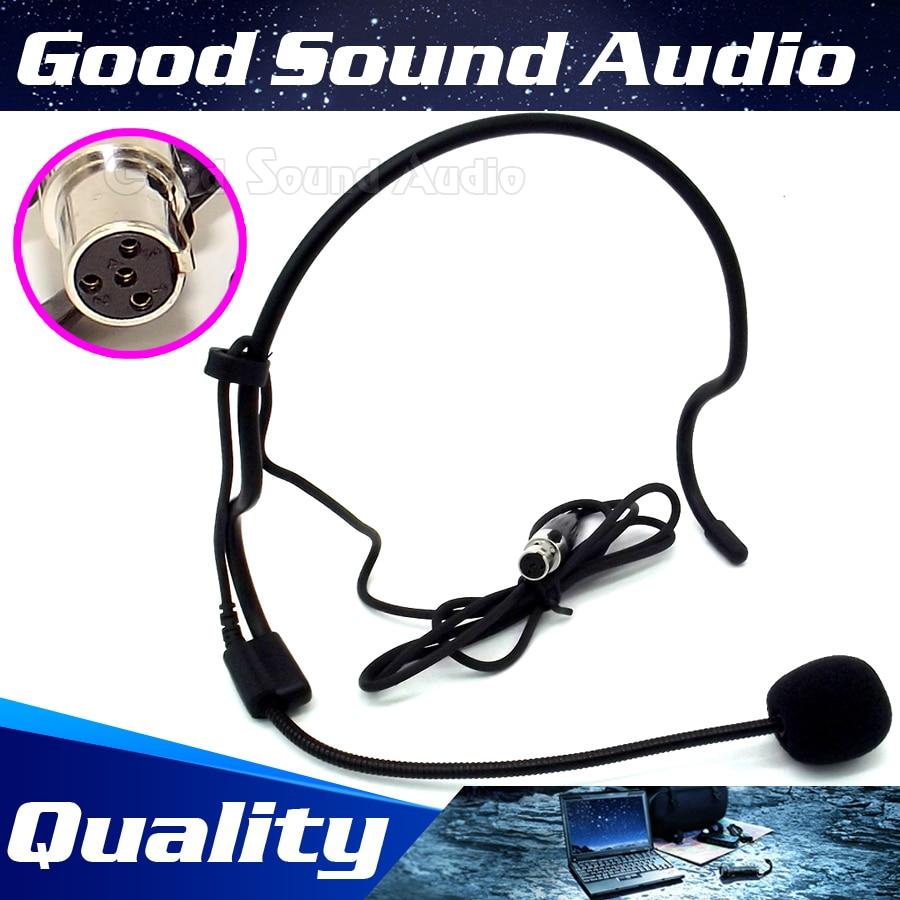 Mini XLR 4 Pin TA4F 4PIN Stecker Stirnband Headworn Mic Ohrbügel Kondensator Headset Mikrofon Für SHURE Wireless System Bodybelt