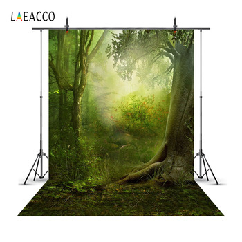 Laeacco Fairytale Forest Trees Scene Baby Children Photography Backgrounds Customized Photographic Backdrops For Photo Studio laeacco unicorn words baby children comic celebration party scene photographic backgrounds photography backdrop for photo studio