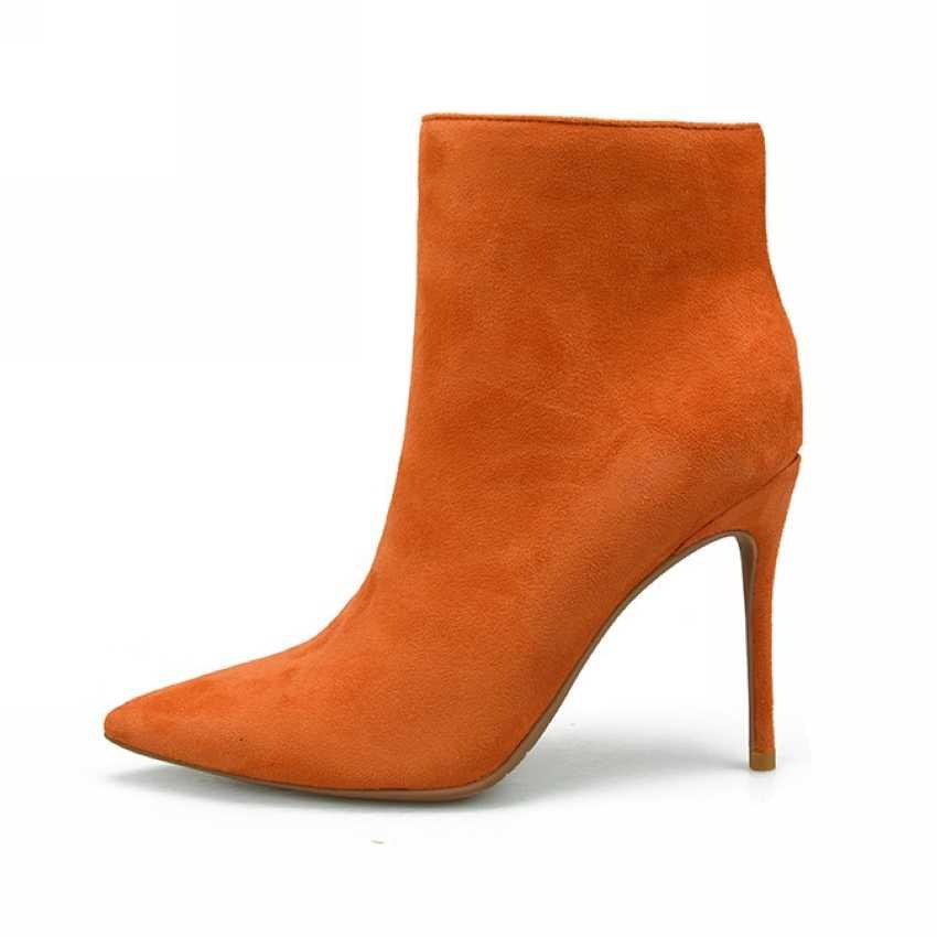 2018 thương hiệu phụ nữ khởi động sexy cao gót mắt cá chân khởi động cho phụ nữ lông ấm áp khởi động mùa đông và mùa thu giày phụ nữ cộng với kích thước 4-11
