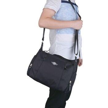 Coofit Merk Unisex Nylon Messenger Bag Zwart Kwaliteit Waterdichte Crossbody Tassen Eenvoudige Grote Schoudertas Business Voor Vrouwen Mannen