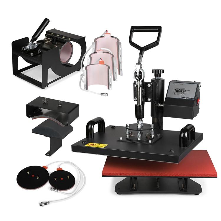 8 In 1 Digital Heat Press Machine Multifunctional Transfer Sublimation For T-Shirt Mug Cup Hat Cap 15