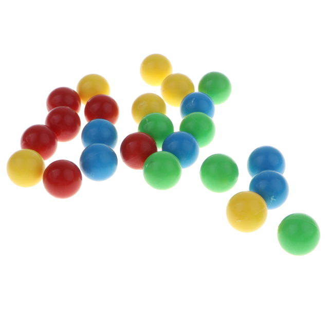 24pcs Colorful Beads Mini Desktop Hungry Frog Game Replacement Parts Feeding Frog Game Accessories for Kids Party Play Toys