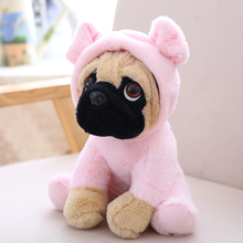 2019 New Stuffed Simulation Dogs Plush Sharpei Pug Lovely Puppy Pet Toy Plush Animal  Anime Plush Toy Children Kids Gifts цены