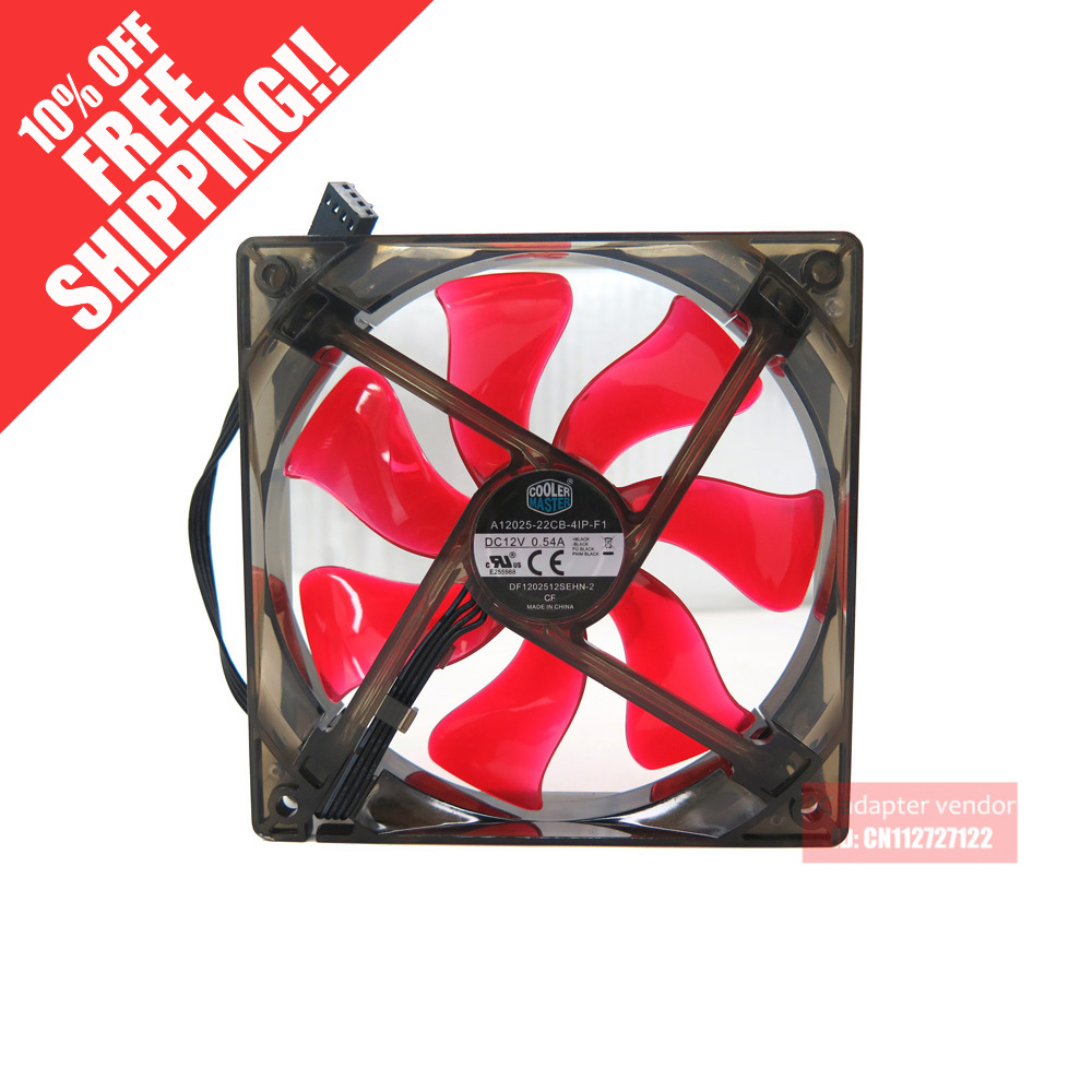 new Cooler Master DF1202512SEHN-2 XtraFlo 120 12cm silence 4 wire PWM cooling fan new 2b12038b48h 12cm 12038 48v 0 70a 4 wire pwm fan speed control 120 120 38mm