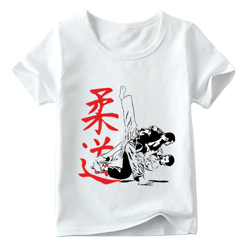 Hot Sale Children Judo Print T shirt Summer Fashion Baby Boys/Girls Top O-Neck Short Sleeve T shirts Kids Casual Clothes,HKP402 цена и фото