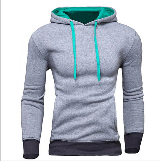 Moleton Masculino 2016 Autumn Slim Hoodies Mens Sweatshirt Male Pullover Hooded Sportswear Male Patchwork Fleece Tracksuit SW23