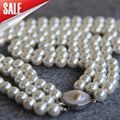 Necklace&Bracelet 8mm Blue Shell pearl beads 3set Seashell DIY gift for women beads Jewelry making design 17-19inch Wholesale
