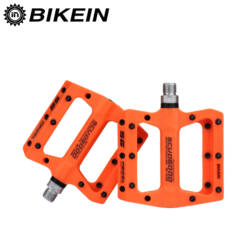 BIKEIN Mountain Bike Pedal MTB Pedals BMX Bicycle Flat Pedals Nylon Multi-Colors MTB Cycling Sports Ultralight Accessories 355g cube rfr flat pedal hpp